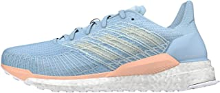 Adidas Solar Boost 19 Women's Running Shoe, Glow Blue/Blue Tint/Glow Pink, 7.5 US