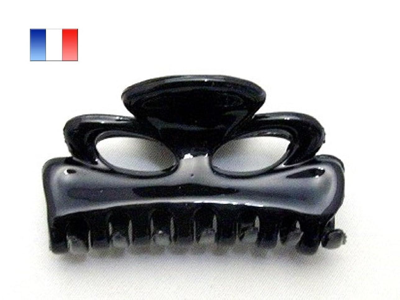 移住する特許初期の【Made in France】 バンスクリップ ウルトラ6cm(038)ブラック