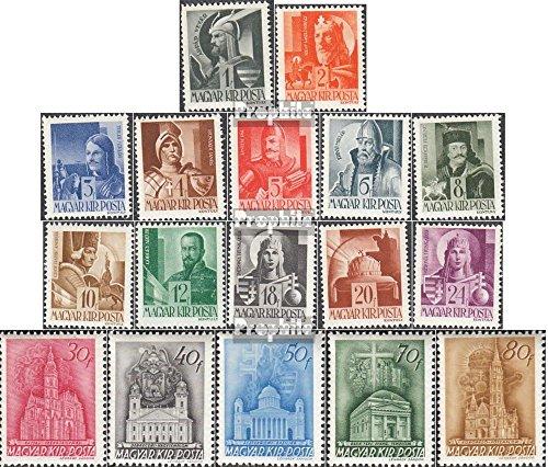 Prophila Collection Ungarn 705-721 (kompl.Ausg.) 1943 Freimarken (Briefmarken für Sammler)