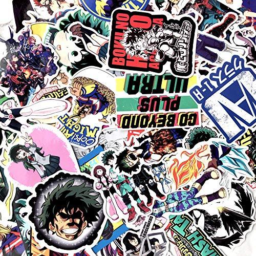 My Hero Academia Anime Periférico Maleta Maleta Maleta Maleta Maleta Maleta Maleta Guitarra Patineta Portátil Graffiti Pegatina 100pcs