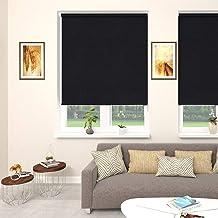 Blinds2Curtains Polyester Black 200 cm x 100 cm Allison Blackout Roller Blind