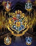 Harry Potter Laminiert Mini Poster House Crests 40 x 50 cm