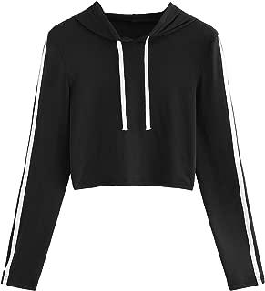 Milumia Women's Drawstring Long Sleeve Hoodie Casual Crop Top Sweatshirt