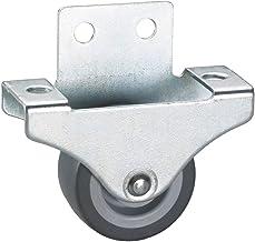 4 stk. parketbokrol 38x18 mm, TPE-wiel grijs
