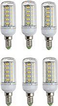 12 V LED E14 Corn Lamp 24 V 6 W Middle Edison Schroef Kaars Lamp, Laag Voltage DC12-80V, 6-pack WELSUN (Color : Cool white)
