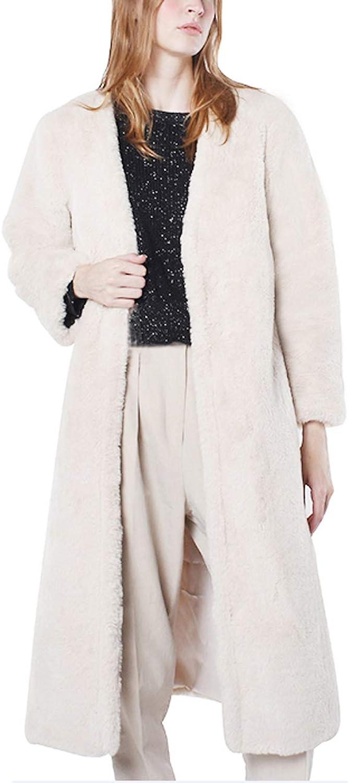 Women's Ladies Autumn Winter Warm Fluffy Coat Long Sleeved Jacket Outerwear