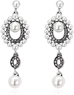 Beauty Hot Wedding Party Jewelry Silver Gold Plated Pearls Alloy Dangle Earrings
