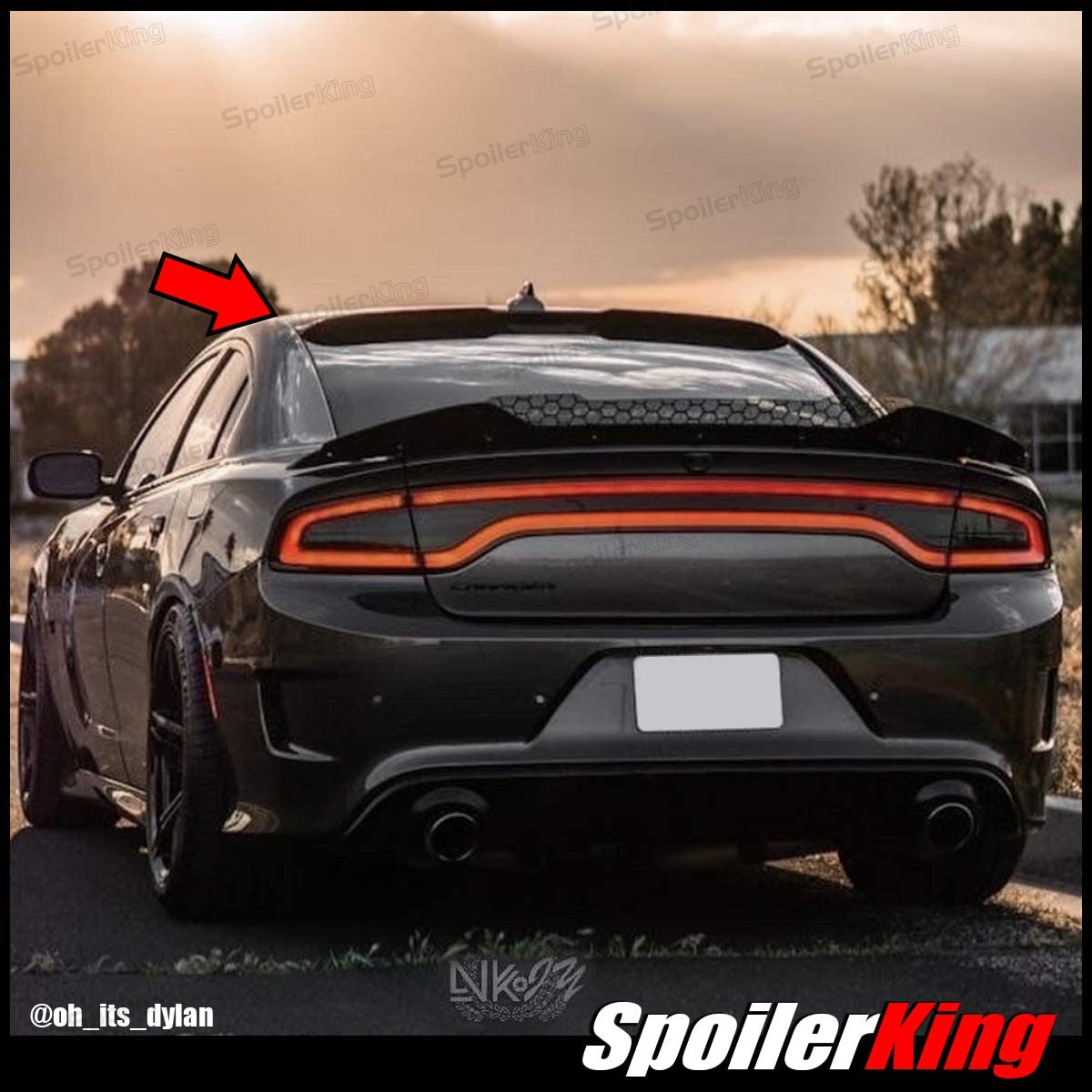 SpoilerKing Roof Spoiler Regular dealer Center Cut Charge with Compatible Louisville-Jefferson County Mall Dodge