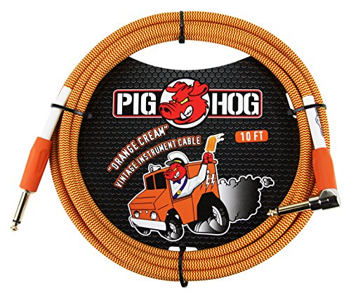 Pig Hog PCH10CCR Guitar Instrument Cable, 10 feet