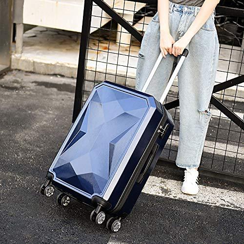 YXF-Wheeled bagage Trolley case - ABS/PC, redelijke lay-out, krasbestendig geborsteld, stijlvolle waterdicht en gemakkelijk te reinigen persoonlijkheid universele wiel student zakelijke wachtwoord koffer - 4 kleur