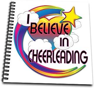 3dRose db_166341_1 I Believein Cheerleading Cute Believer Design Drawing Book, 8 by 8-Inch