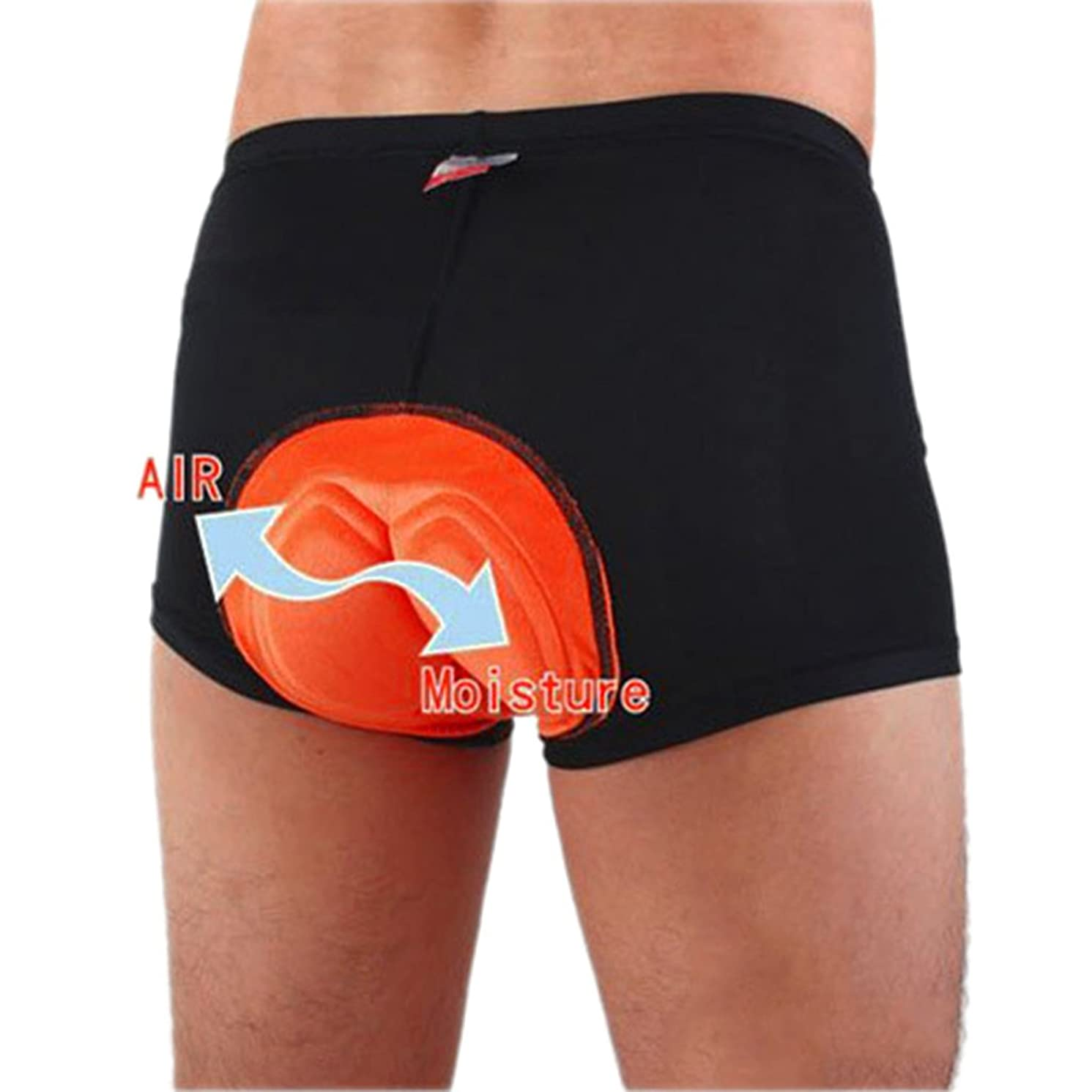 jntworld Men Cycling Shorts Black 3D Gel Padded Underwear High Air Permeability