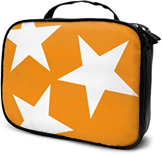 Travel Make Up Bags Tennessee Tri Star Flag Large Makeup Bag Toiletry Travel Bag Brushes Cosmetic Bag for Women Girls