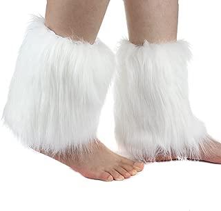 One Pair Women Faux Fur Soft COZY FUZZY Boots Shoes Cuffs Leg Warmers