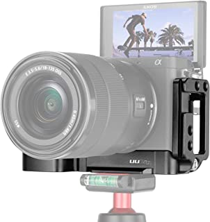 Vlog Vertical Tipo L Placa de soporte para Sony A6400 Empuñadura Arca Soporte de soporte de metal de cámara de liberación rápida con micrófono Soporte de zapata fría para Sony A6400