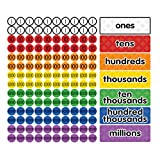 Dowling Magnets DO-732162 Magnet Math Magnetic Place Value Disks & Headings (Grades 3–6)
