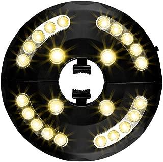 Usmascot - Luces para Sombrillas, 3 Modos de Brillo, 24 LED, Funciona con 4 Pilas AA, Lámparas de Noche Inalámbricos para Paraguas de Jardín Patio Playa Terraza y Piscina (Luz Cálida)