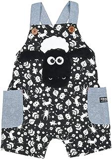 【子供服】 Little Bear Club (リトルベアークラブ) ひつじのショーンショートオール 80cm~130cm N31144