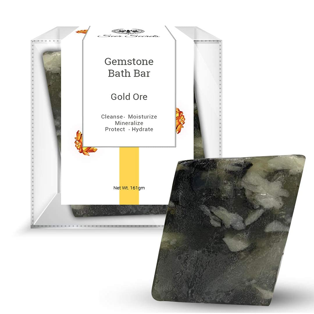 Max 60% OFF Sage Secrets Fixed price for sale 100% Natural Luxury Ore Bath Gemstone Gold Handmade