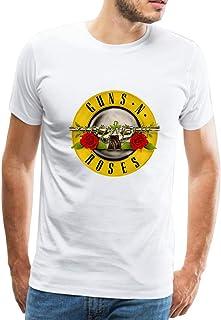 4f5c46cd478f Official Guns N' Roses Bullet Camiseta para Hombre Manga Corta Blusa Tops  T-Shirt