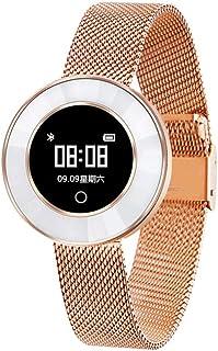 Hukz X6 Reloj inteligente de pulsera para niñas, presión arterial, saturación de oxígeno en sangre, pulsómetro, pulsera inteligente X6 (oro rosa)