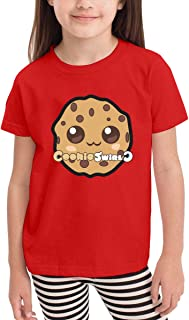Coo_kie S_wirl C Black Funny Cotton Toddler T Shirt