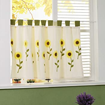 HongYa Cortinas de cocina, a cuadros, con cordón, con encaje, tela, Rosa., H/B: 80/130cm: Amazon.es: Hogar
