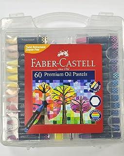 Faber Castell Premium Hexagonal Oil Pastels in A Carry CASE, 60 PCS