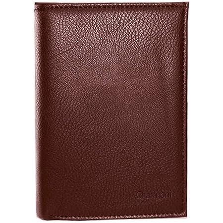 Charmoni - GC101 - Grand Classique Portefeuille Homme Porte Carte Crédit Visite Monnaie en Cuir Synthétique (Marron)