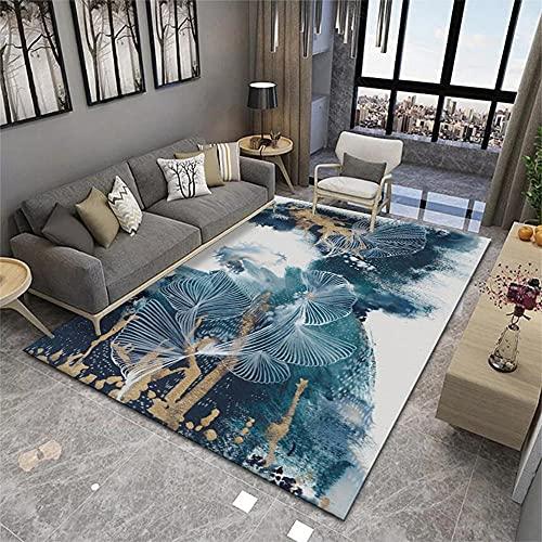 Alfombra Silla Gaming Azul Salón Alfombra Azul Graffiti Abstracto árbol patrón Alfombra...