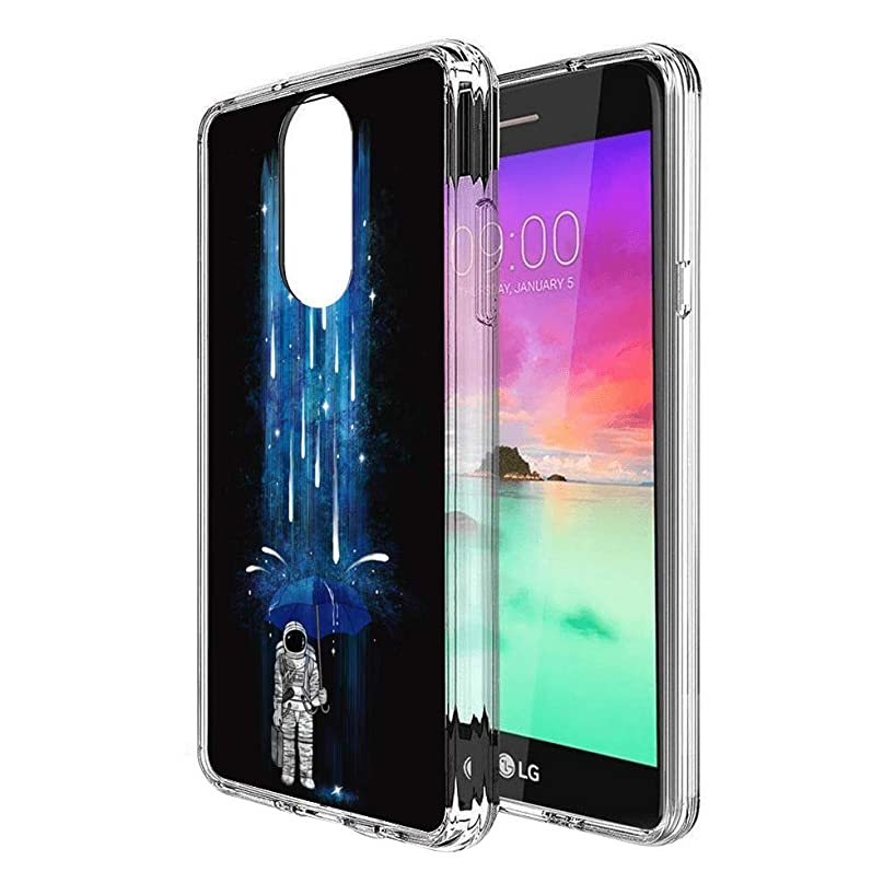 Case for LG Stylo 4, Penard Series Clear Scratch-Resistant Shock Absorption Flexible Protective Cover, LG Stylo 4 Phone Case Astronaut with Umbrella