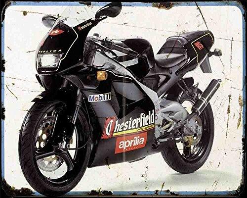 Aprilia Rs 125 Extrema Chesterfield Replica 94 A4 Metallschild Motorrad Vintage Aged