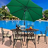 YAYY Sunshade sunshade umbrella <span class='highlight'><span class='highlight'>Britoniture</span></span> 3M Garden Parasol Umbrella Sun Shade Outdoor Patio Balcony Crank Tilt Mechanism Dark Green-Dark Green Upgrade