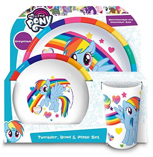 My Little Pony Recipiente para bocadillos, plástico, White Multi, 20.7 x 20.7 x 11.20 cm