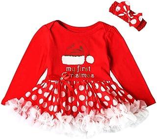 2c3ad525746c8 Koly Robe Tutu Princesse Costume Deguisement de Noël Enfant Bebe Fille  enfantin 2017 Mon Premier Noël