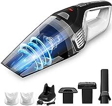 جارو برقی Homasy قابل حمل جارو برقی بدون سیم، قدرتمند سیکلونیک ساکشن، لیتیوم 14.8V با تکنولوژی شارژ سریع، دست مرطوب سبک سبک دست