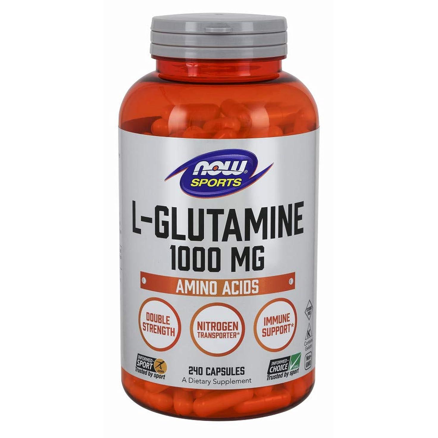 うねる計算可能柱[海外直送品] ナウフーズ  - Lグルタミン 1000 mg。240カプセル