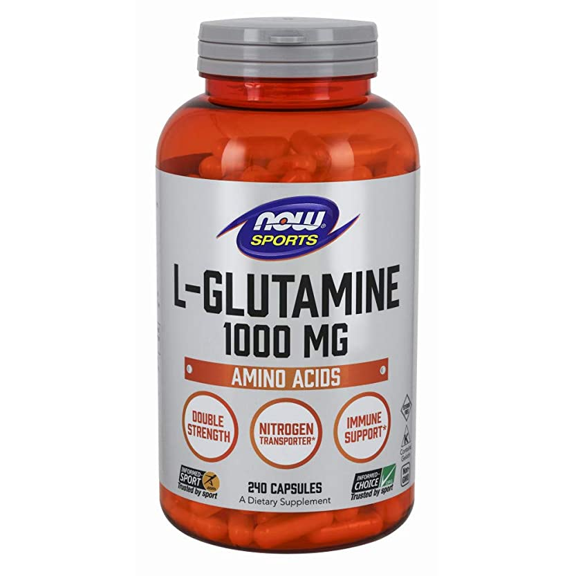 インフラ独裁者ペア[海外直送品] ナウフーズ  - Lグルタミン 1000 mg。240カプセル