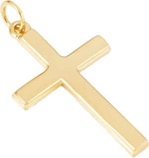 14KT Yellow Gold Cross Religious Pendants/Charms for Men and Women - Available in Various Exquisite Designs