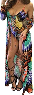 Women's New Colorful Dyeing Bikini One Piece Swimsuit+Ponchos Cover Ups