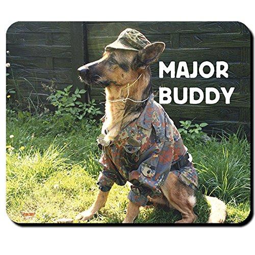 Hund Major Buddy Bundeswehr Deutscher Schäferhund DSH Diensthund - Mauspad Mousepad Computer Laptop PC #14289