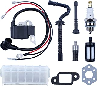 Haishine Ignition Coil/Air Filter/Fuel Oil Hose Kit for STIHL MS210 MS230 MS250 021 023 025 Chainsaw 0000-400-1306, 1123-400-1301