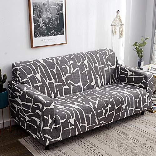 Fsogasilttlv Funda Antideslizante para sofá Funda elástica para sofá de 2 plazas y 4 plazas Funda de sofá elástica geométrica para Sala de Estar, Mascotas Funda de Chaise en Forma de L Universal