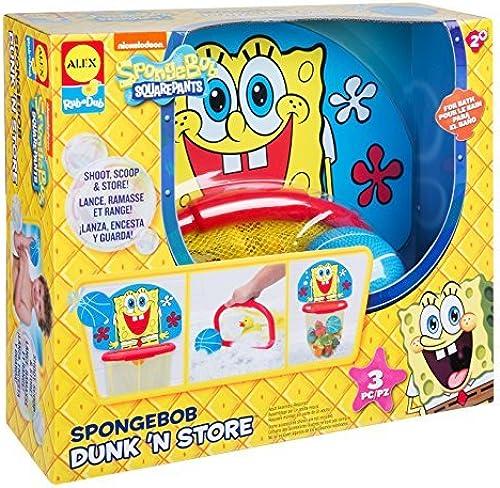 Garantía 100% de ajuste SpongeBob Dunk Dunk Dunk N Store Bath Toy by ALEX Toys  Todos los productos obtienen hasta un 34% de descuento.