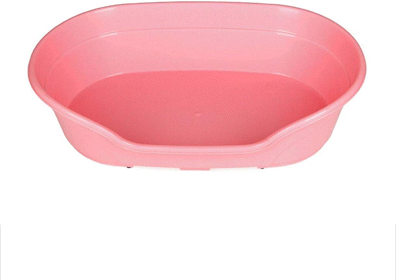 Heavy Duty Plastic Waterproof Pet Dog Cat Bed Basket (color   Pink)