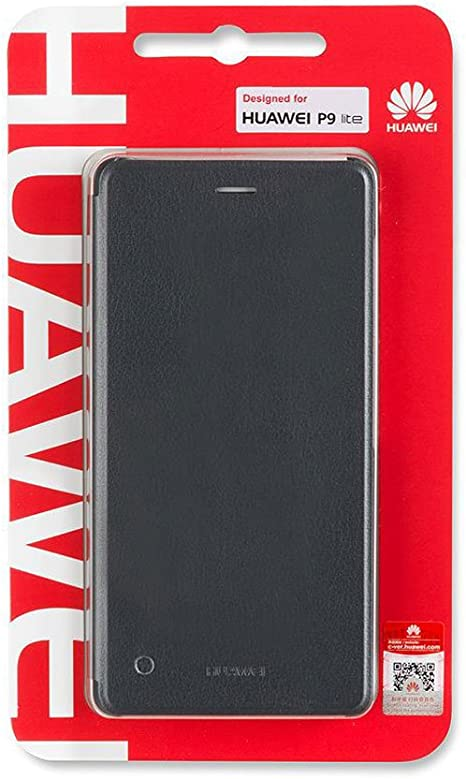 Huawei P9 Lite Flip Cover - Funda oficial para Huawei P9 Lite, gris: Amazon.es: Electrónica