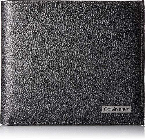 カルバンクラインCalvinKlein二つ折り財布カーフメンズブラック79215