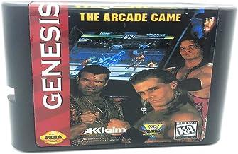 Royal Retro WWF Wrestlemania Arcade pour console de jeux vidéo Sega Genesis et Mega Drive 16 bits (noir)