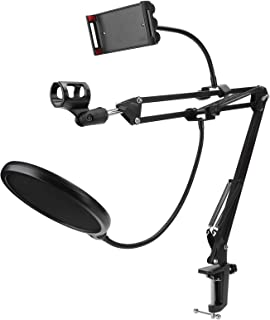 High Mechanical Strength Microphone Arm Stand Holder, Iron Microphone Stand Set, for Nb‑35 Standard Microphone Vertical In...