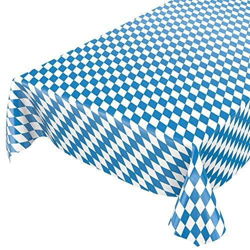 ANRO Wachstuch Tischdecke Wachstuchtischdecke Wachstischdecke Bayern Bayerische Raute Oktoberfest 100x140cm